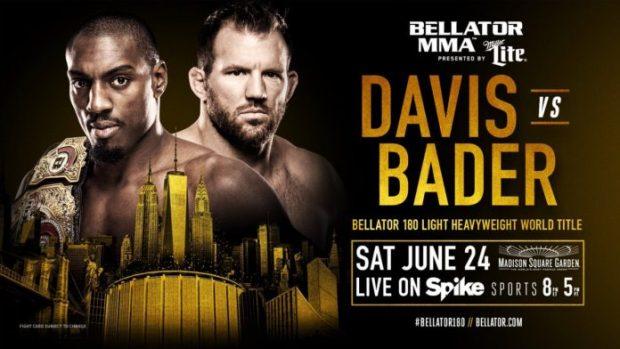 Pôster de divulgação da luta entre Davis e Bader. (Foto: Bellator/Divulgação)