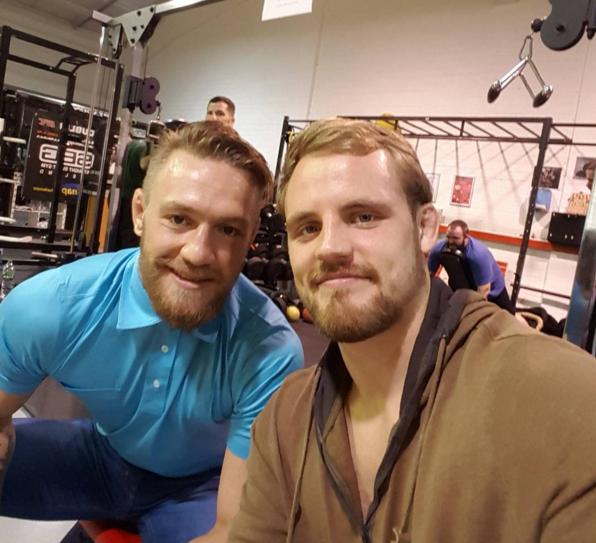 McGregor (esq) e Gunnar (dir) são parceiros de treinos. (Foto: Reprodução/ Divulgação)