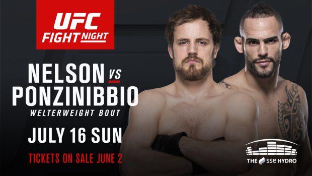 Ponzinibbio (dir) e Nelson (esq) se enfrentam em julho. (Foto: Divulgação/Twitter-UFC)