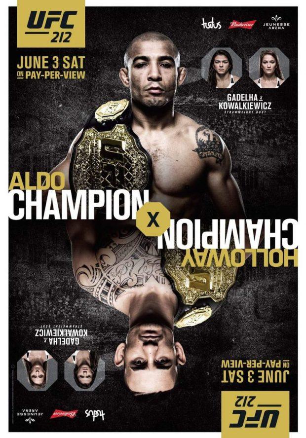 Pôster oficial do UFC 212. (Foto: Reprodução/Divulgação)