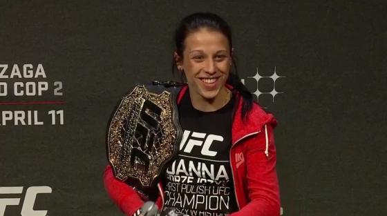 Joanna tem quatro defesas de título no peso palha (Foto: Reprodução/Youtube)