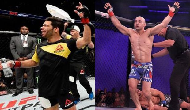 Assunção e Marlon fecham o card preliminar (Foto: Facebook UFC / Divulgação / Montagem SL)