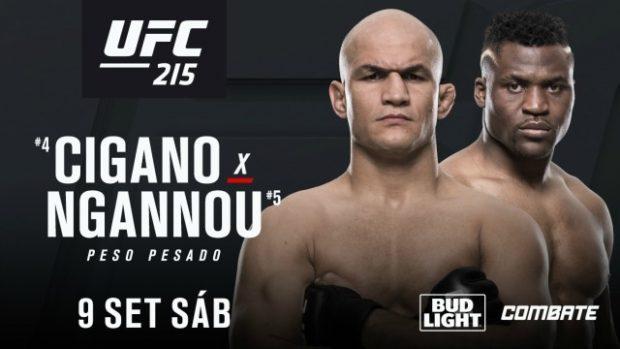 J. Cigano (esq) enfrenta F. Ngannou (dir) Foto: Divulgação/UFC