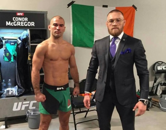 Lobov (dir) é amigo pessoal de McGregor (esq) Foto: Reprodução Instagram @thenotoriousmma