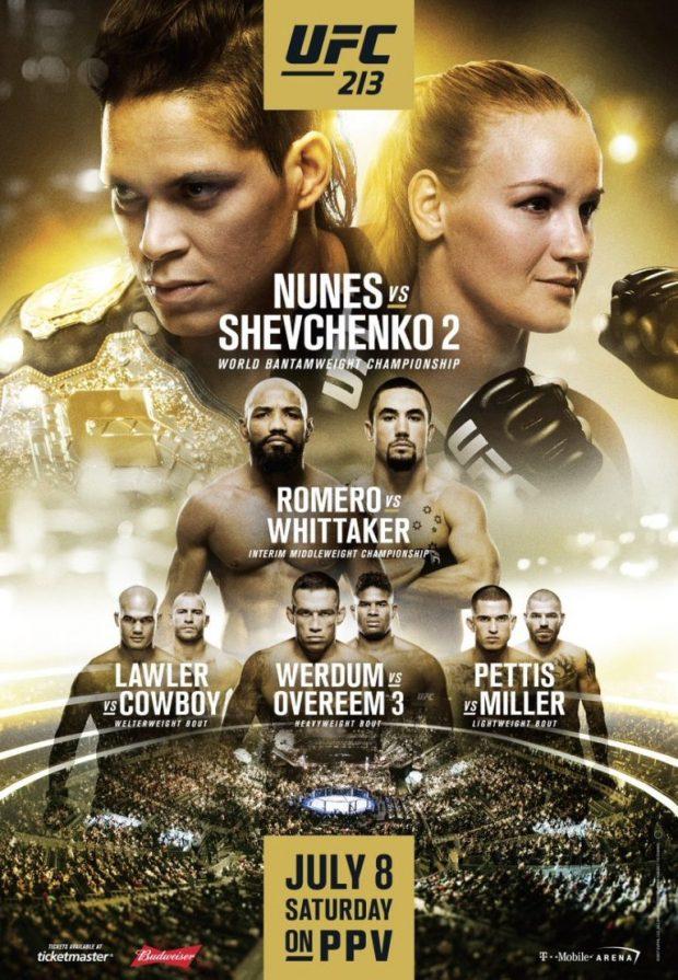 Pôster do UFC 213 (Foto: Reprodução/Twitter UFC)