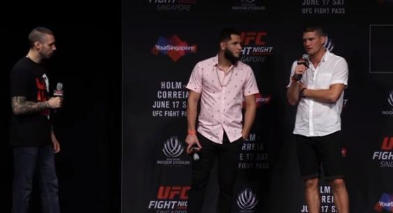 J. Masvidal (centro) e S. Thompson (dir) devem lutar (Foto: Reprodução/Youtube/UFC