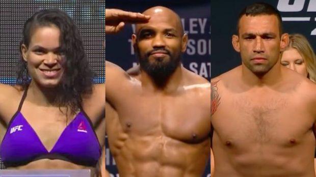 Trio é azarão para o UFC 213 (Foto: Reprodução/Youtube UFC/Montagem SL)