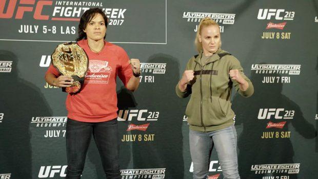 Amanda e Valentina lideram o card do UFC 213 (Foto: Reprodução/Twitter UFCBrasil)