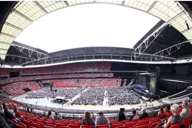 Estádio Wembley antes de show (Foto: Reprodução/Facebook/Wembley Stadium)