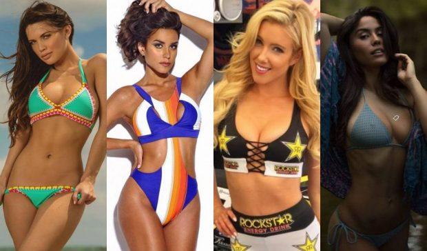 Quatro ring girls foram escolhidas para May-Mac(Foto: Divulgação/Montagem SL)