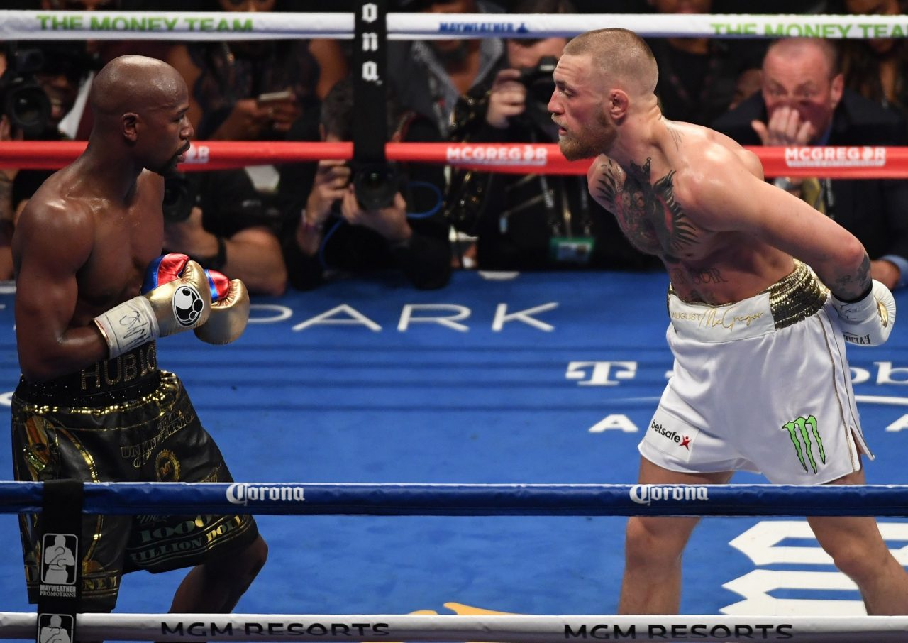 McGregor e Mayweather no UFC? (Foto: ReproduçãoTwitter ufc_brasil)