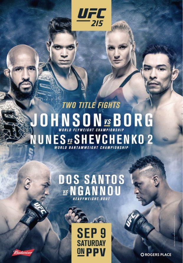 Pôster oficial do UFC 215 (Divulgação/UFC)