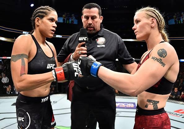 Nunes derrotou Valentina no UFC 215 (Foto: Reprodução/Facebook UFC)