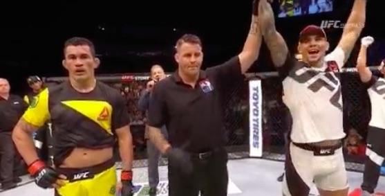 Bodão foi derrotado por Rakic (Foto: Reprodução/Twitter/UFC Europe)
