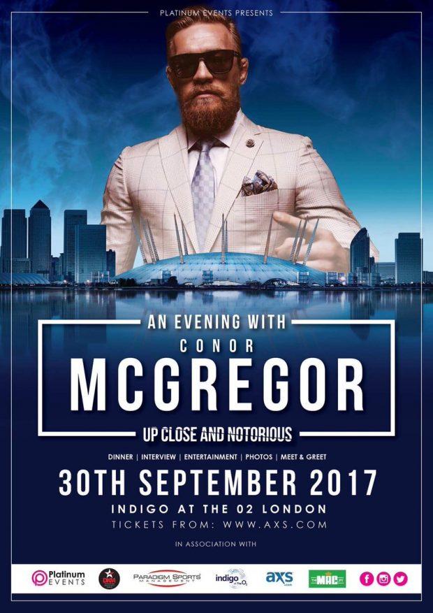 Entrevista de McGregor via pay-per-view (Foto: Reprodução Twitter platinumevents)