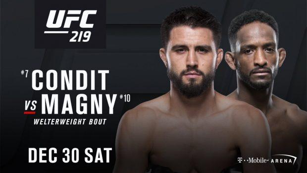 Duelo acontecerá dia 30 de dezembro, em Las Vegas (EUA) (Foto: Divulgação/UFC)