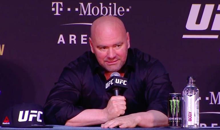 D. White foi questionado pelos jornalistas sobre o futuro do irlandês na coletiva de imprensa do UFC 226. Foto: Reprodução/Youtube UFC