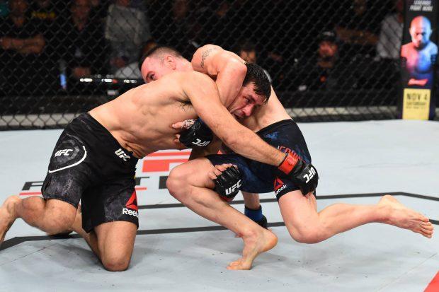Demian perdeu para Covington na decisão (Foto:Reprodução/Facebook UFC)