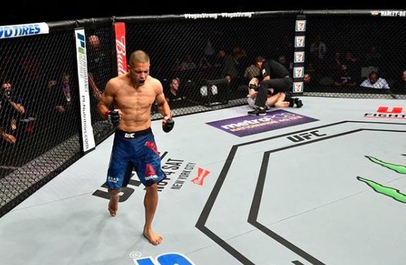 Moraga nocauteou Bibulatov no primeiro round (Foto:Reprodução/InstagramUFCBrasil)