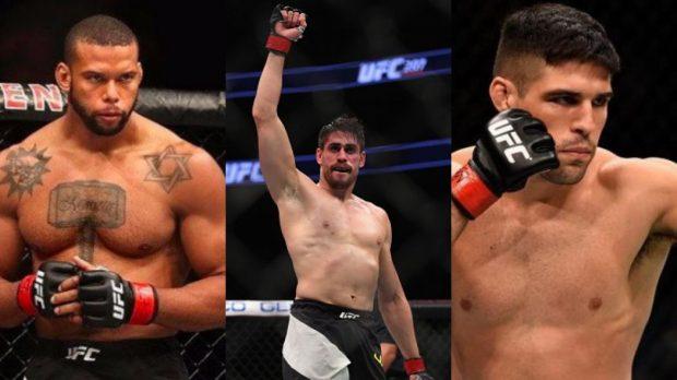 Trio é oriundo do reality show do UFC (Foto: Foto:Reprodução Facebook/Montagem SL)