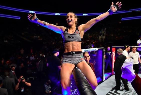 Poliana estreou no UFC com vitória (Foto:Reprodução/InstagramUFCBrasil)