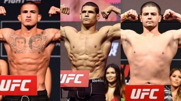Trio é favorito para o UFC Norfolk (Foto:Reprodução/Facebook/Montagem SL)