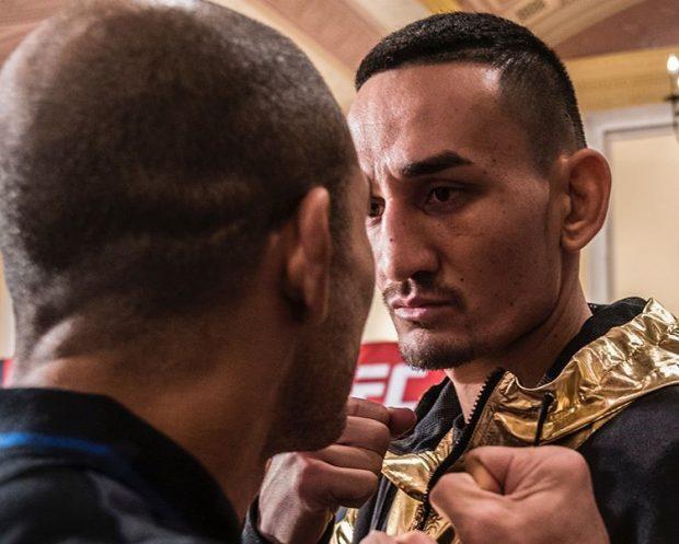 Aldo (esq) faz revanche com Holloway (dir) (Foto: Reprodução Instagram ufc)