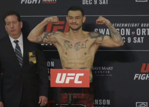 C. Swanson (foto) busca chance pelo título contra Ortega (Reprodução Youtube ufc)
