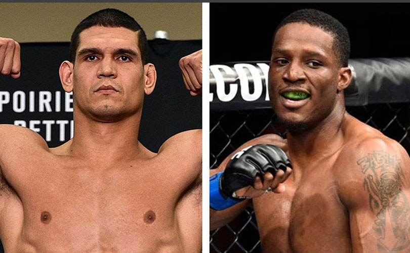 Mutante (esq.) encara Roberson (dir.) no UFC 224. Foto: Reprodução / Instagram cezarmutant