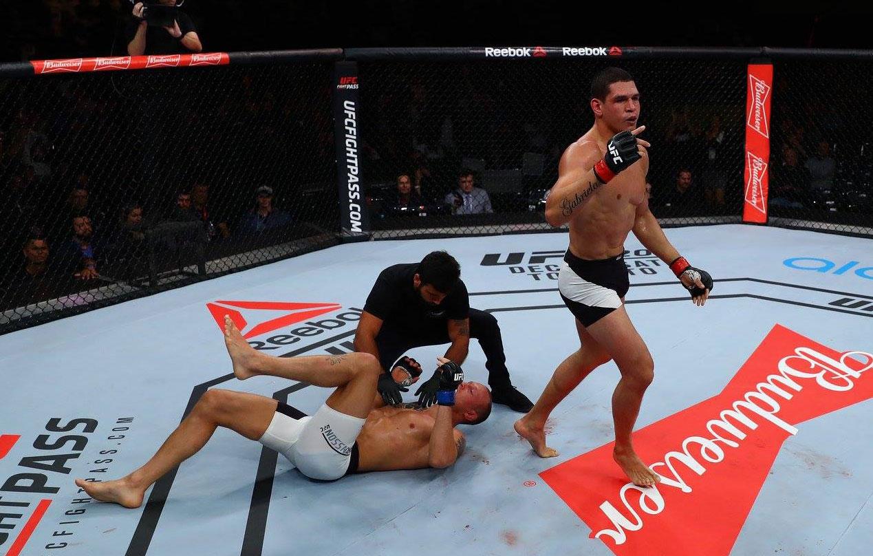 Mutante comemora retorno no UFC Rio. Foto: Divulgação / UFC