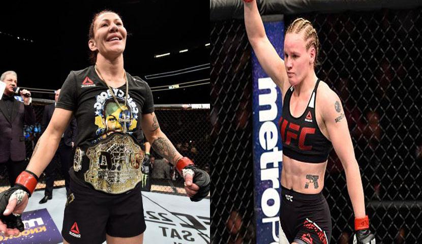 Cyborg (esq.) contratou Valentina (dir.) para seu camp contra Amanda. Foto: Montagem SL / MMA Press