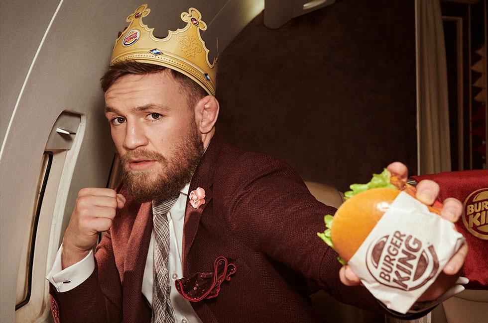 McGregor é o novo garoto-propaganda do Burger King. Foto: DIvulgação