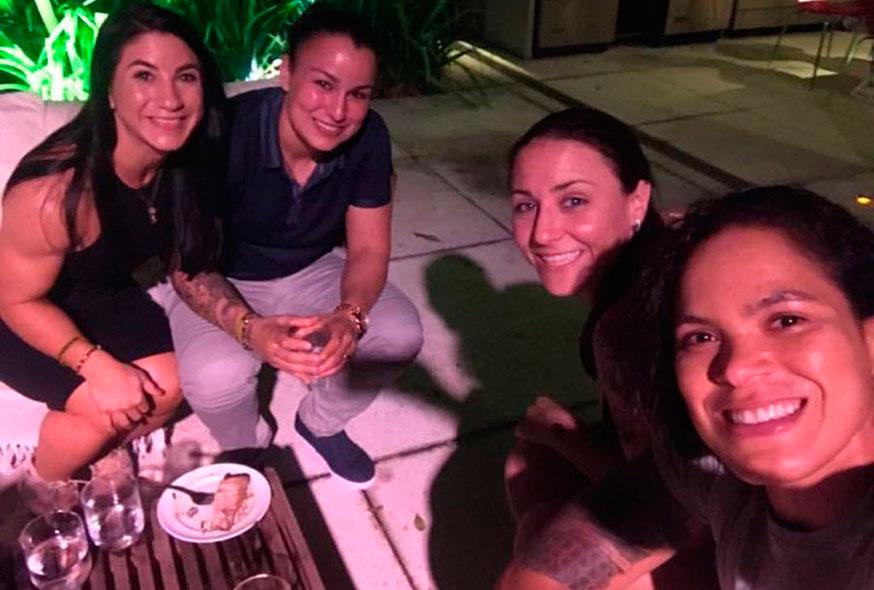 Amanda divulgou o jantar junto com a rival antes do UFC 224. Foto: Reprodução / Instagram