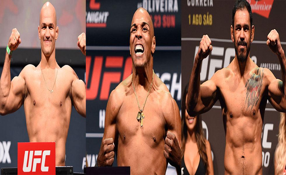 Cigno (esq.), Pezão (c) e Minotouro (dir.) estão livres de suspensão. Foto: Montagem SL / MMA Press