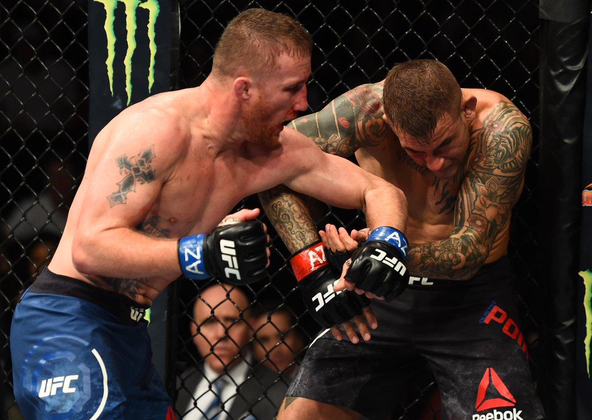 Poirier (esq.) fica perto da chance pelo cinturão. Foto: Divulgação / Twitter / UFC