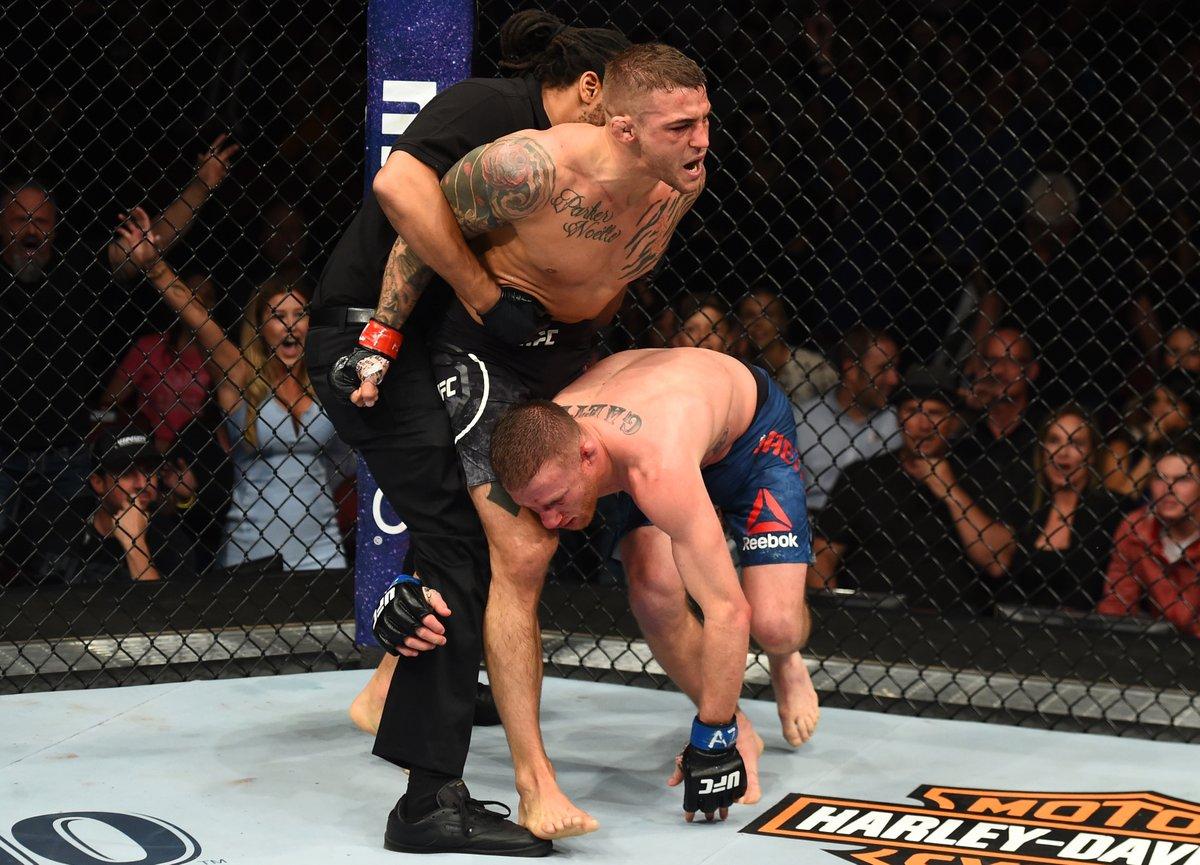 Poirier 'luta do ano' Gaethje. Foto: Reprodução / Twitter / UFC