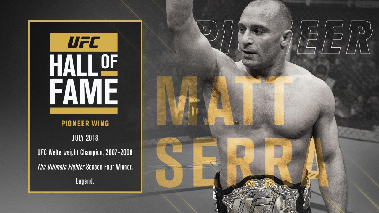 Serra incluído ao Hall da Fama do UFC. Foto: Divulgação