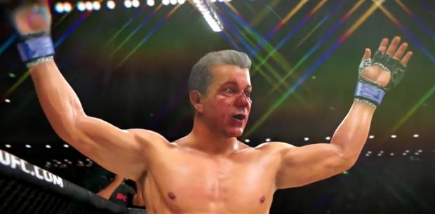B. Buffer é lutador no game EA Sports UFC 3. Foto: Reprodução / Youtube Martial Mind