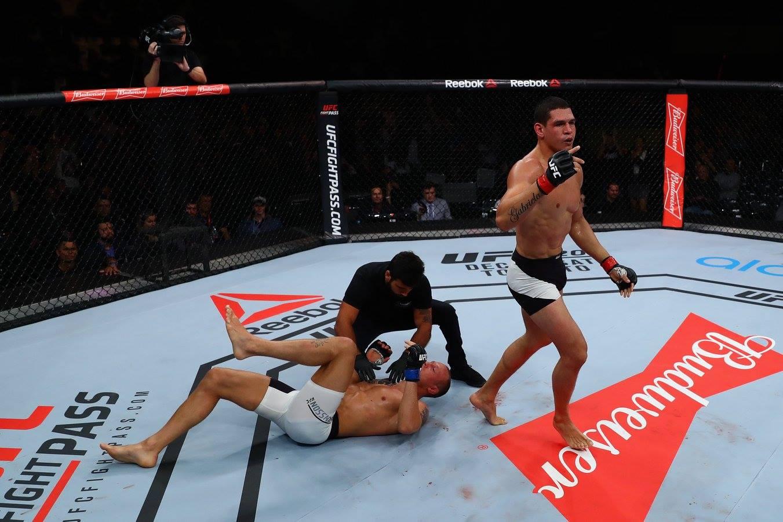 Mutante (dir.) estará em ação no UFC 224. Foto: Divulgação / Mutante