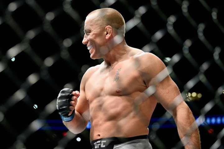G. St. Pierre (foto) não luta desde novembro de 2017, desde então só houveram especulações sobre luta contra N. Diaz. (Foto: Reprodução/Facebook UFC)