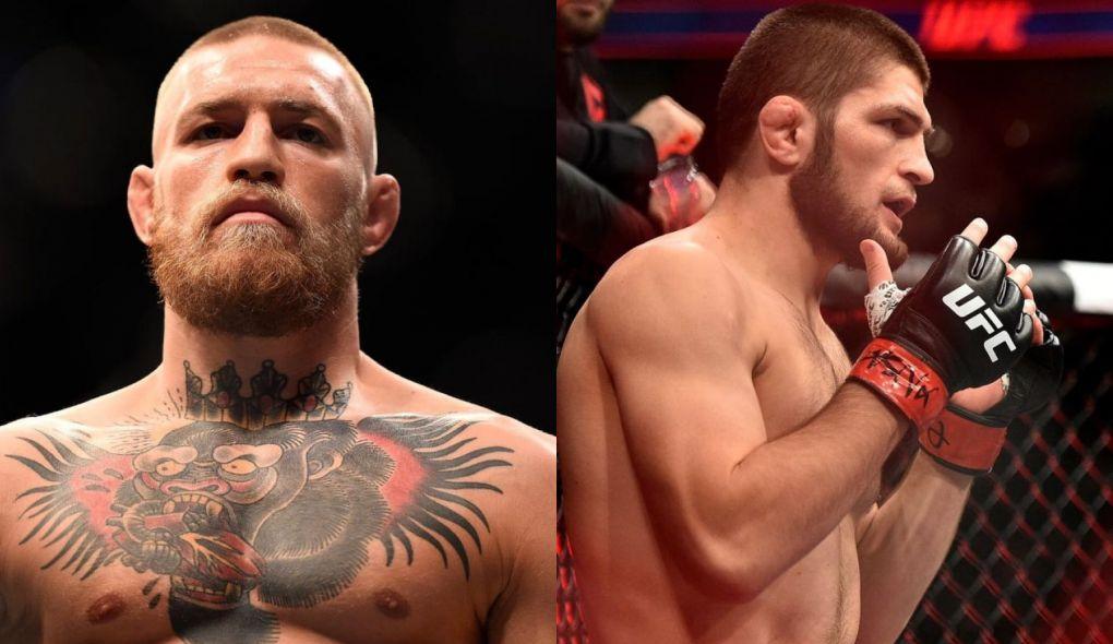 C. McGregor (esq.) e K. Nurmagomedov (dir.) fazem a luta mais esperada do ano. oto: Montagem SL MMA Press