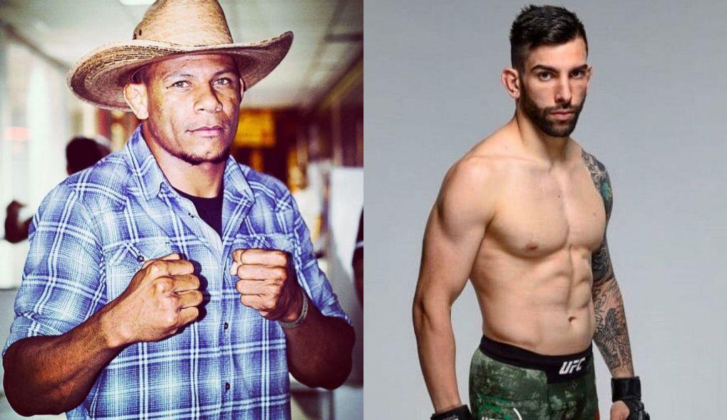 A. Cowboy (esq.) e C. Pedersoli (dir.) foi o último combate confirmado. Foto: Montagem SL/MMA Press