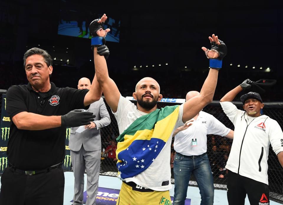 D. Figueiredo foi para a sexta colocação. Foto: Reprodução/Facebook UFC