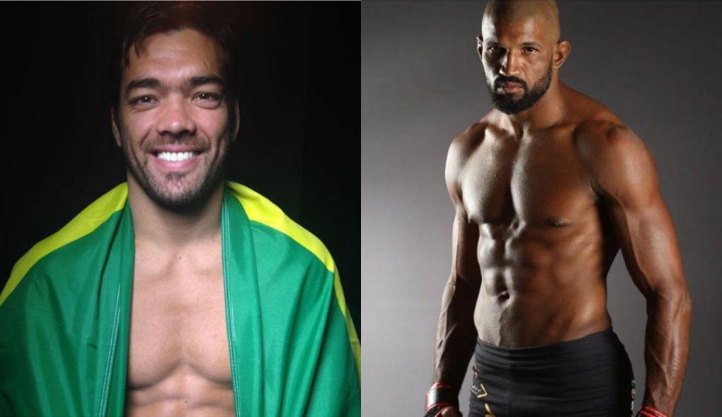 L. Machida (esq.) e R. Carvalho (dir.) lutam nos pesos médios. Foto: Montagem SL MMA Press
