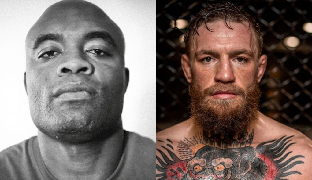 C. McGregor não perdeu tempo para responder Anderson. Foto: Montagem SL MMA Press