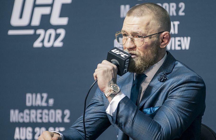 C. McGregor afirma que UFC está atrasando seu retorno ao MMA. Foto: Reprodução/Facebook @thenotoiousmma