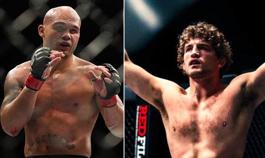 Lawler (esq.) e Askren (dir.) devem se enfrentar em janeiro. Foto: Montagem SL MMA Press