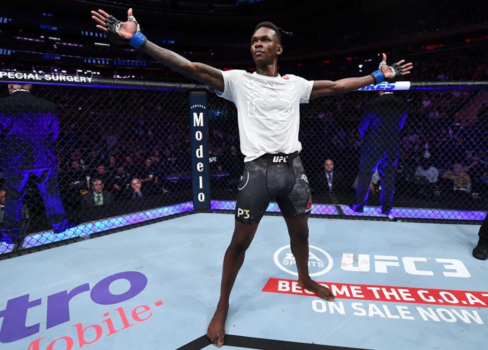 I. Adesanya dominou o rival no UFC 230. Foto: Reprodução/Facebook UFC