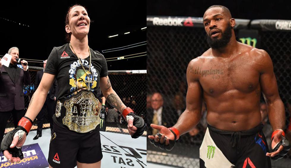 Cyborg (esq.) e Jones (dir.) são favoritos para o UFC 232. Foto: Montagem SL MMA Press