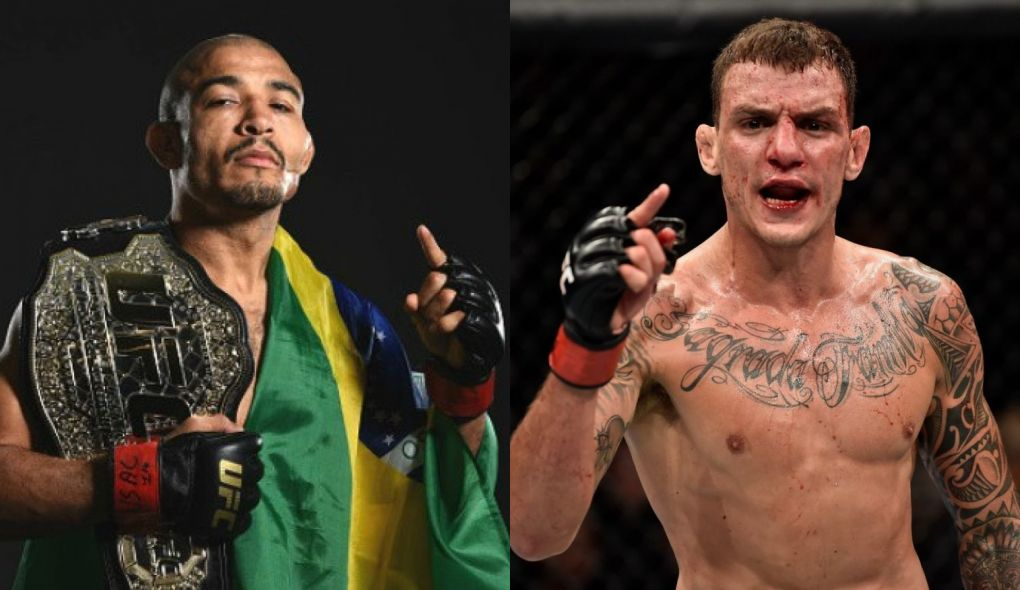 J. Aldo (esq.) e R. Moicano (dir.) se enfrentam em Fortaleza. Foto: Montagem SL/MMA Press